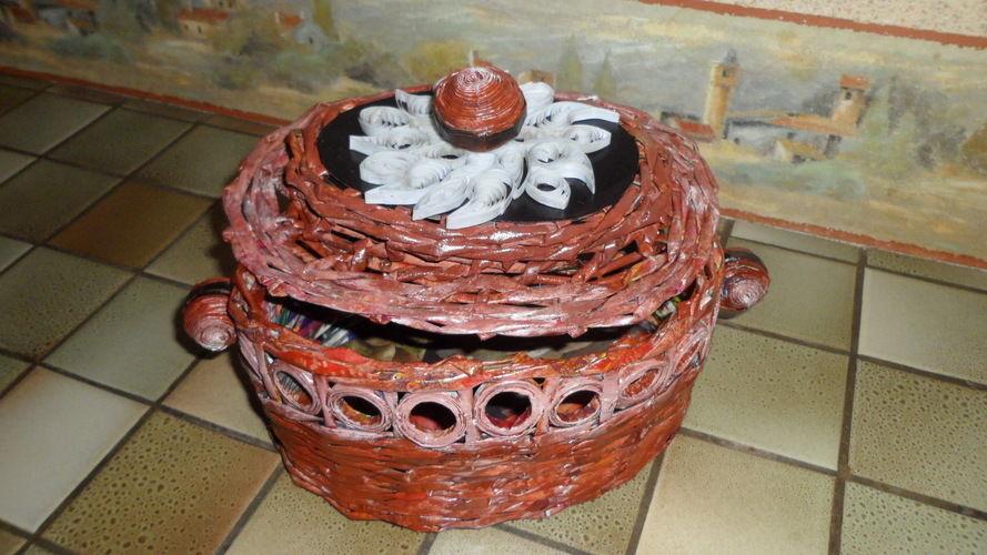 Makerist - Vannerie Corbeille en Rotin (papier journal) - Autres créations - 1