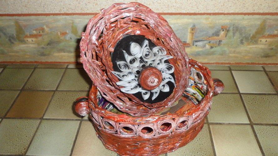 Makerist - Vannerie Corbeille en Rotin (papier journal) - Autres créations - 2