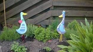 Gartenfiguren Enten aus Holz