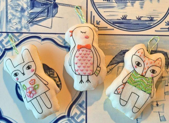 Makerist - Molly makes Tiere bestickt  - Textilgestaltung - 1