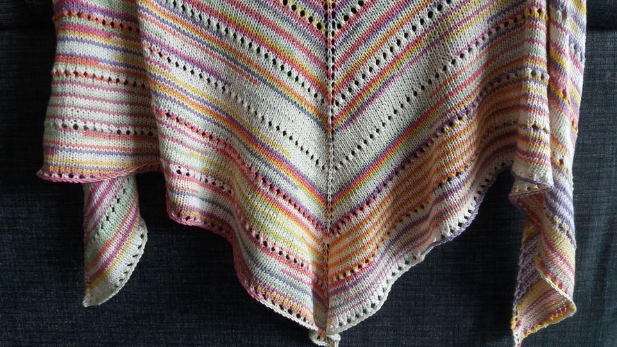 Makerist - châle tout doux et coloré pour l'été  - Créations de tricot - 2