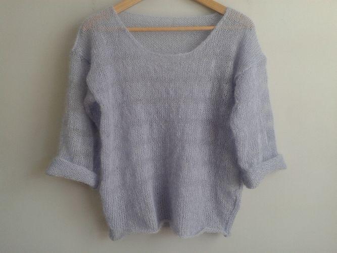 Makerist - pull manches 3/4 - Créations de tricot - 1