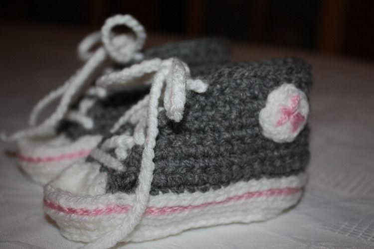 Makerist - gehäkelte Turnschuhe fürs Baby - Häkelprojekte - 2