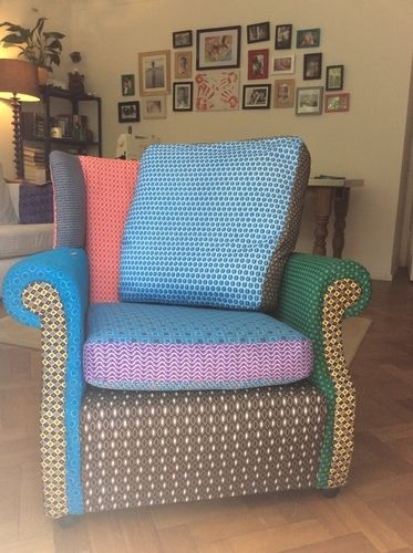 Makerist - Funky retro wingback chair - DIY Showcase - 1
