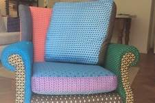 Makerist - Funky retro wingback chair - 1