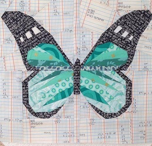 Makerist - Schmetterling - Nähen auf Papier - Patchwork-Projekte - 1