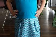 Makerist - Ein Kinderkleid Sally in blau für meine Tochter - 1