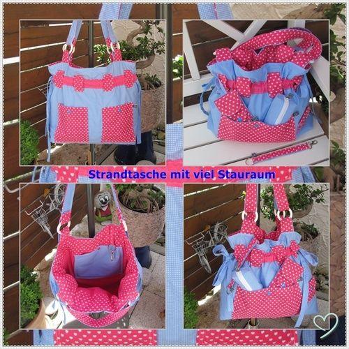 Makerist - Strandtasche mit viel Zubehör - Nähprojekte - 1
