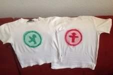 Makerist - Kartoffeldruck- Ampelmännchen - Tshirt mit Pinselkreis und Wasserwischiwaschi für meine Jungs - 1