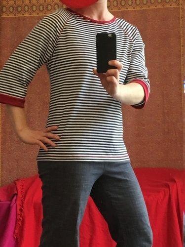 Makerist - Bethioua Shirt nach EllePlus aus Ringeljersey - Nähprojekte - 2