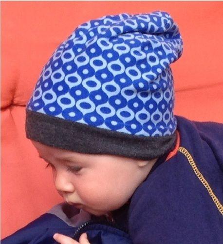 Makerist - Blaue Baby Beanie aus Jersey - Nähprojekte - 1