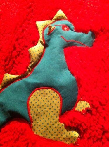 Makerist - Kuscheldecke  feuerspeiender Drache  für meinen Enkel - Nähprojekte - 2