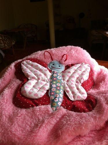 Makerist - Kuscheldecke Schmetterling   für meine jüngste Enkeltochter - Nähprojekte - 1