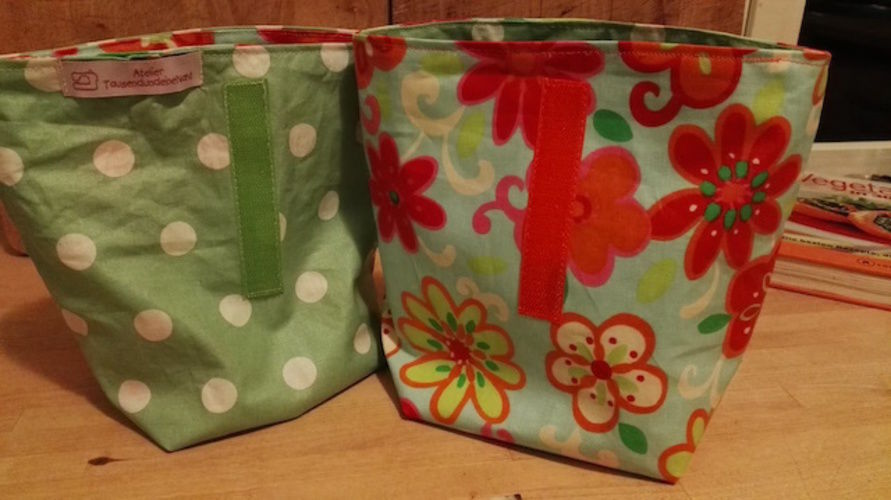 Makerist - Fröhliche Lunchbags aus buntem Wachstuch - Nähprojekte - 1