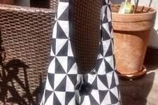 Makerist - Umhängetache in schwarz-weiß - 1