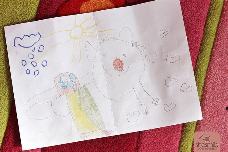 Makerist - Eine Kinderzeichnung wird zum Kuschelkissen - Nähprojekte - 2