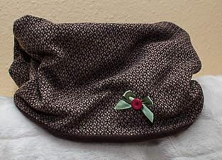 Loopschal aus Kuschelfleece und Wolle