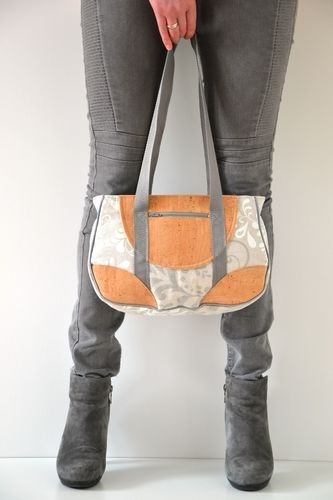 Makerist - Handtasche mit Kork - Nähprojekte - 1