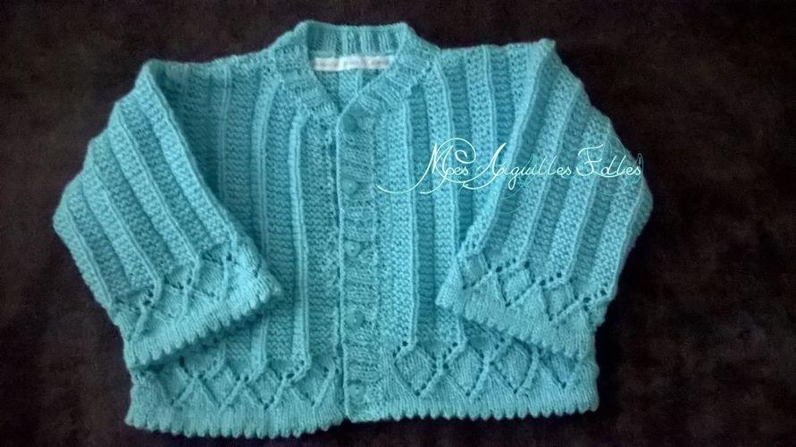 Makerist - Gilet ajouré bébé - Créations de tricot - 1