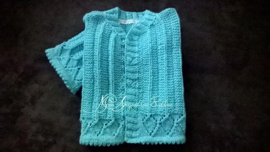 Makerist - Gilet ajouré bébé - Créations de tricot - 2