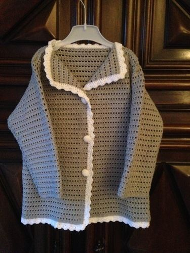 Makerist - veste petite fille 4ans - Créations de crochet - 1