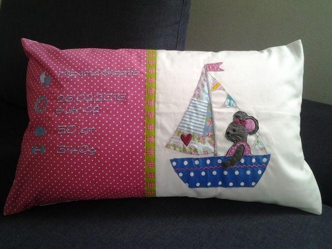 Makerist - Kissen zur Geburt - Nähprojekte - 1