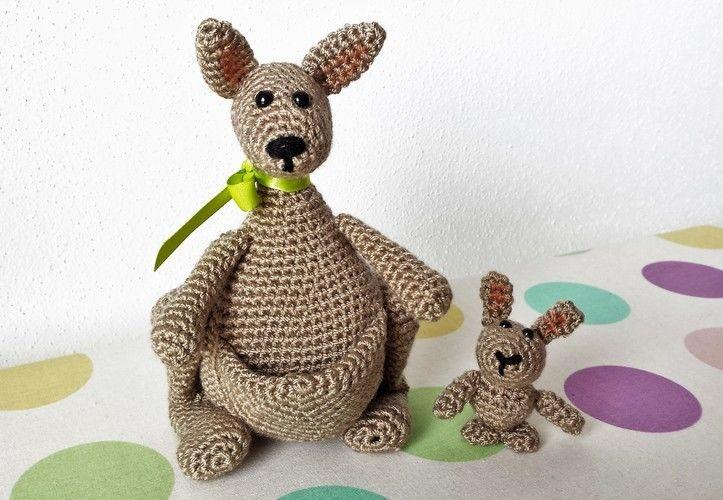 Makerist - Känguruh Mama mit Baby - Häkelprojekte - 2