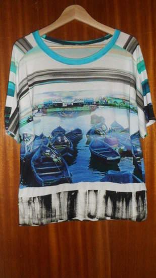 "Fledermaus Shirt ""Urlaubsträume"" Aus Viskosejersey"