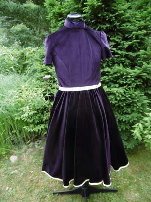Petticotkleid, aus Samt, für mich (als Probekleid)