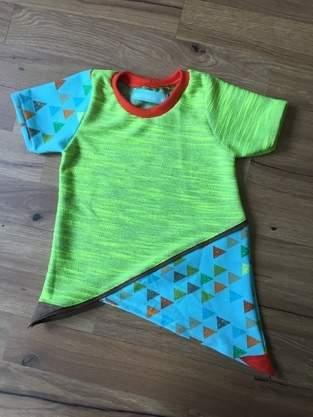 sommerliches Krumm&Schief Shirt aus Jersey für meinen kleinen Sohn