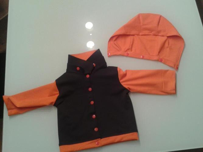 Makerist - Jerseyjacke Größe 80 Kapuze abnehmbar - Nähprojekte - 3
