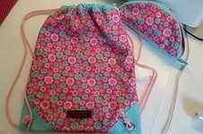 Makerist - Ein Turnbeutel und passende Federmappe für meine Nichte zur Einschulung  - 1