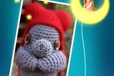 Makerist - Eine große Maus, gehäkelt aus dicker Wolle, etwa 30 cm groß. Sie ist ganz schön schwer :)  - 1