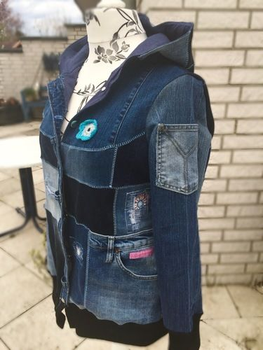 Makerist - Upcycling Jacke Big Lady Bella - Nähprojekte - 3