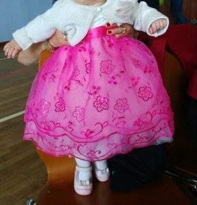 Robe de baptême satin organza bébé 1 an