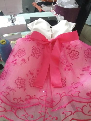 Makerist - Robe de baptême satin organza bébé 1 an - Créations de couture - 2