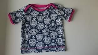 Scull Jersey T-shirt - Mädchen Gr. 74