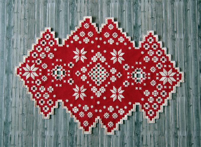 Makerist - Hardanger Tischläufer - Textilgestaltung - 1
