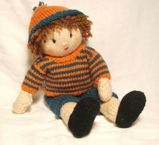 Makerist - Jesse doll- bright stripes jumper - Knitting Showcase - 1