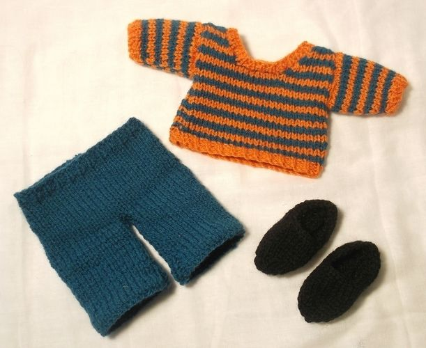 Makerist - Jesse doll- bright stripes jumper - Knitting Showcase - 3