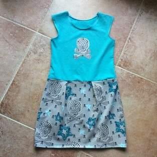 Lässiges Kleid Sally für meine Fine komplett aus Jersey