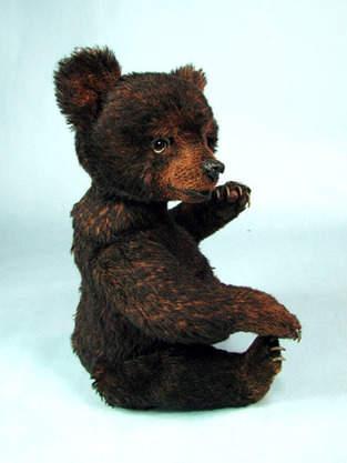 "Makerist - 14"" Miles, an alpaca positionable Black Bear Cub  - 1"