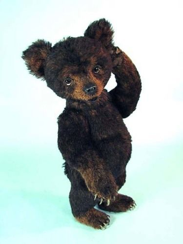 "Makerist - 14"" Miles, an alpaca positionable Black Bear Cub  - Sewing Showcase - 3"