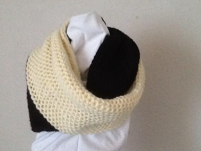 Makerist - grande Echarpe anneau bicolore - Créations de tricot - 1