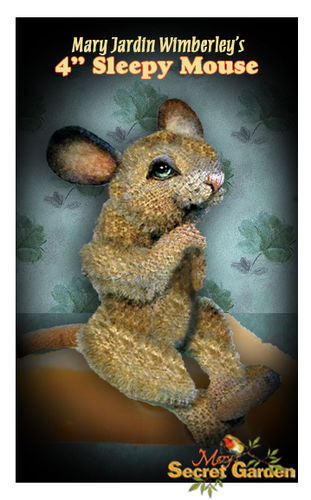 "Makerist - 4"" Sleepy jointed mohair mouse by Mary Wimberley - Sewing Showcase - 1"