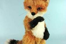 "Makerist - 12"" Red Jamie Fox cub jointed, mohair collectible fox - 1"