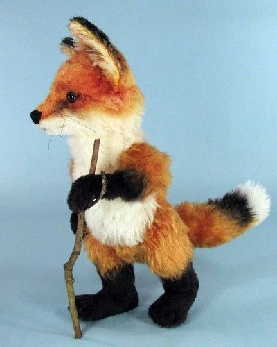 "Makerist - 12"" Red Jamie Fox cub jointed, mohair collectible fox - Sewing Showcase - 3"