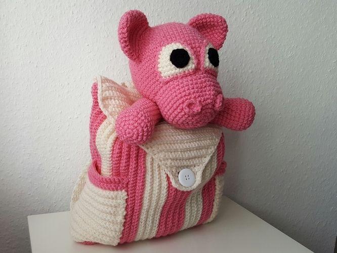 Makerist - Rucksack Schwein  - Häkelprojekte - 2