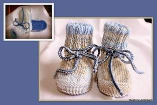 Makerist - leichte Babybooties  - 1