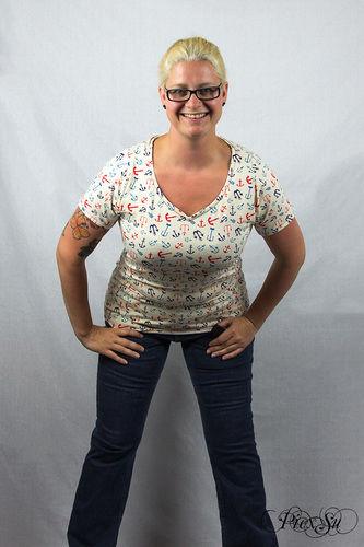 Makerist - Sunny als Shirt mit Wavekragen und geschlossenem Rückenteil - Nähprojekte - 1